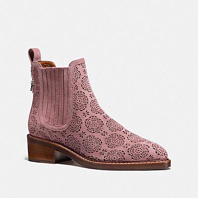 BOWERY 立體茶香玫瑰短靴