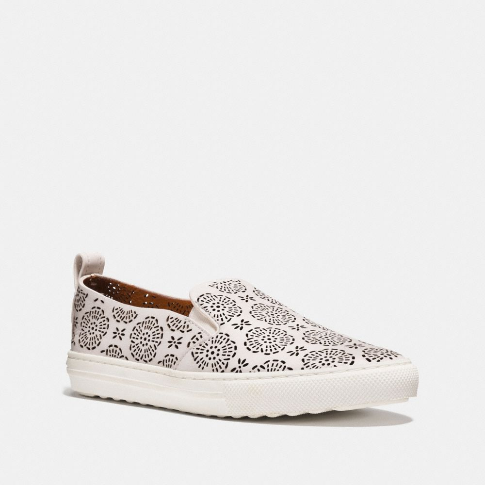C216 SNEAKERS WITH CUT OUT TEA ROSE