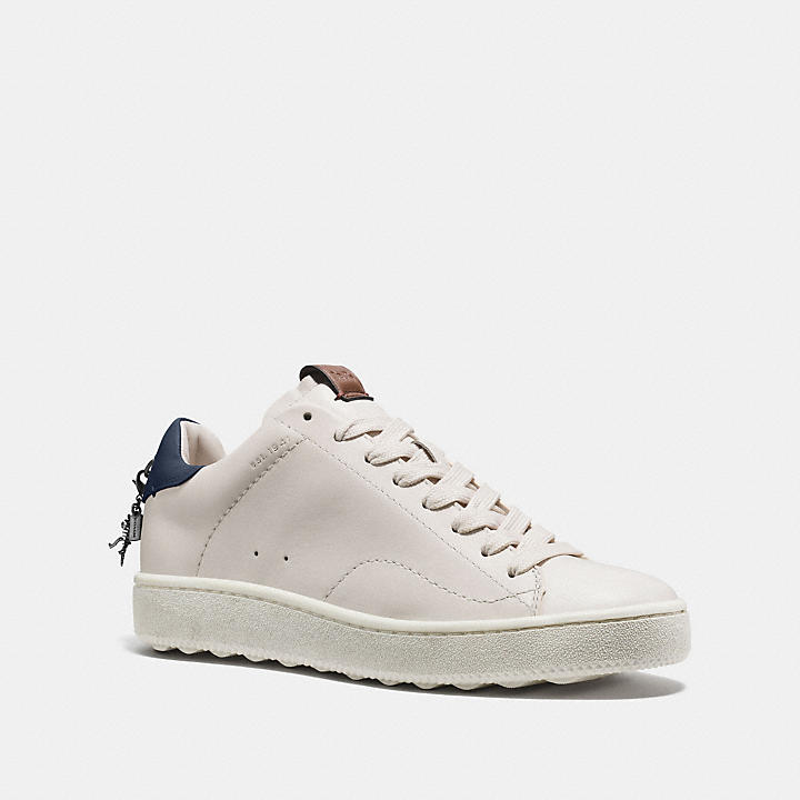 Coach C101 Low Top Sneaker - White/Navy Extremely Sale Online Discount Best Wholesale Buy Cheap Buy Outlet Locations Sale Online Choice tVoytflbTU