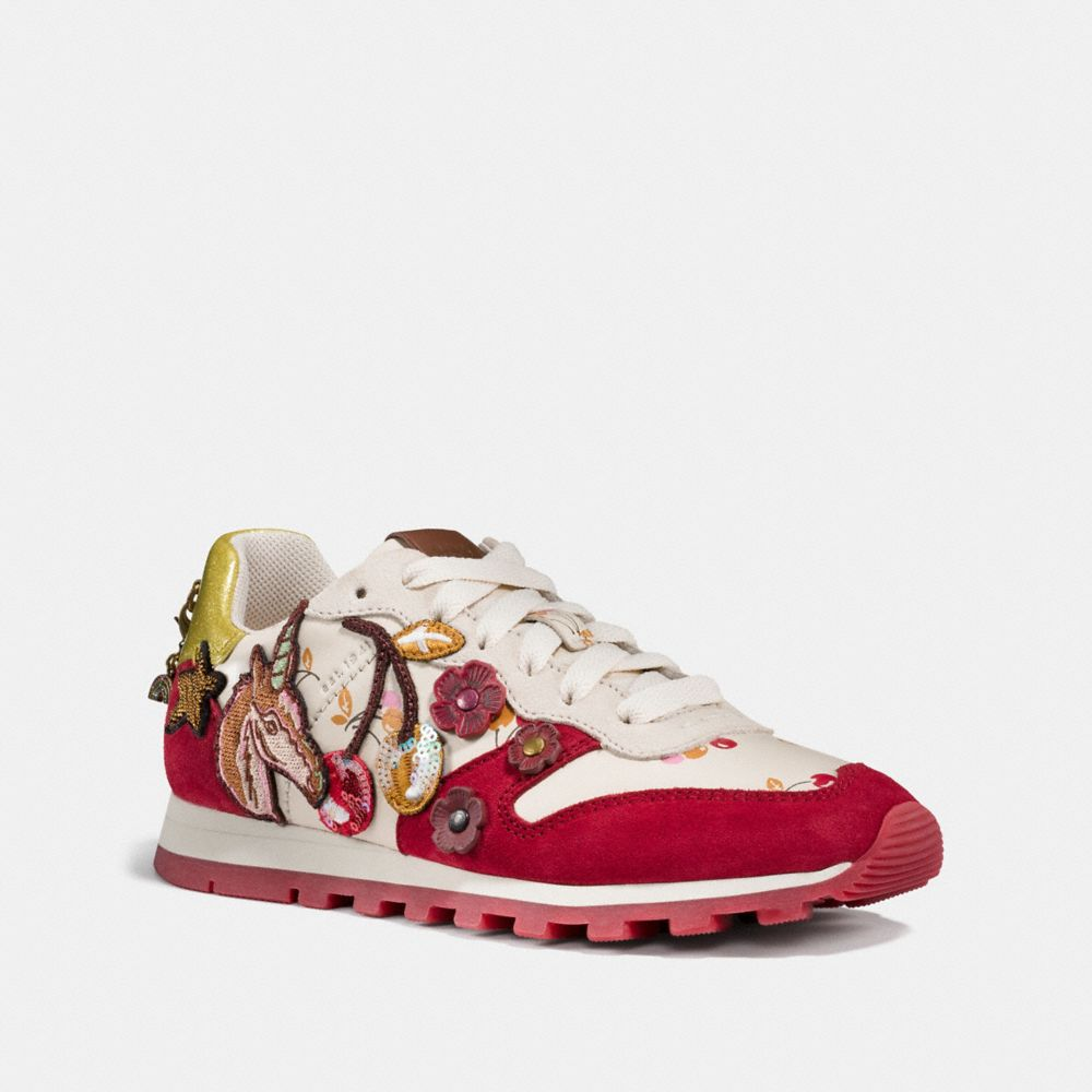 COACH C125 RUNNER WITH UNI PATCHES - WOMEN'S