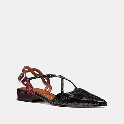 亮片平底鞋