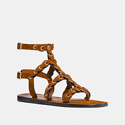 GLADIATOR STRAP SANDAL WITH COACH LINK