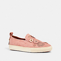 C115 SLIP ON SNEAKER WITH TEA ROSE RIVETS - PEONY - COACH G2062