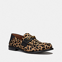 PUTNAM LOAFER WITH LEOPARD PRINT - NATURAL - COACH G2426