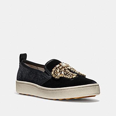 C115水晶蝴蝶結徽章運動鞋