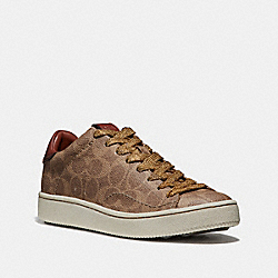 C101 LOW TOP SNEAKER - TAN/RUST - COACH G2745