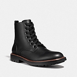 LACE UP BOOT - BLACK - COACH G2925