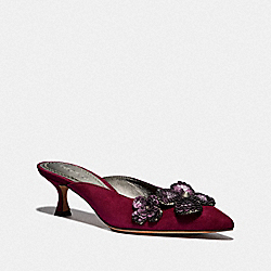 KAILEE MULE WITH PAILLETTES - DARK BERRY - COACH G3170