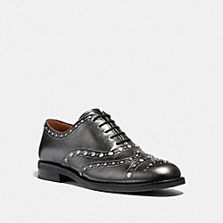 TEGAN OXFORD WITH STUDS - GUNMETAL - COACH G3359