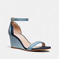 OLIVE SANDAL - DENIM MULTI - COACH G3628