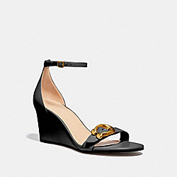 ODETTA WEDGE SANDAL - BLACK/BLACK - COACH G3655