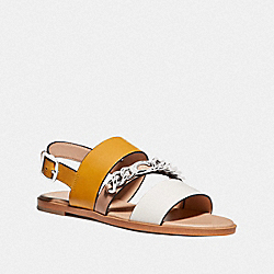 HEATHER SANDAL - CHALK/DARK MUSTARD - COACH G4605