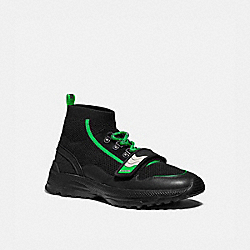 C243 ONE STRAP RUNNER - BLACK FLUO GREEN - COACH G4681