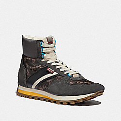 C280 HIGH TOP SNEAKER WITH HORSE AND CARRIAGE PRINT - MULTI ANTRHA - COACH G4828
