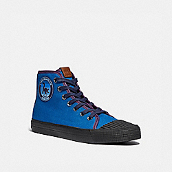 C211 HIGH TOP SNEAKER WITH MYTHICAL MONSTERS - DEEP SKY - COACH G4834