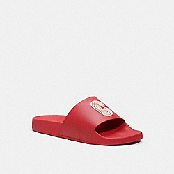 SLIDE WITH COACH PATCH - ELECTRIC RED - COACH G4920