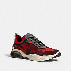 CITYSOLE RUNNER IN COLORBLOCK - SPORT RED OXBLOOD - COACH G4939