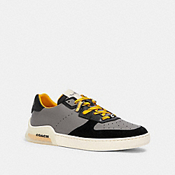 CITYSOLE COURT SNEAKER IN COLORBLOCK - HEATHER GREY BRIGHT YELLOW - COACH G4942