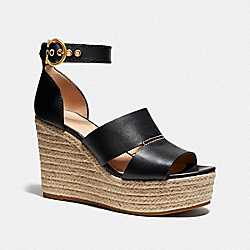 ISLA WEDGE - BLACK - COACH G4975