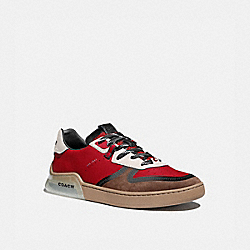 CITYSOLE COURT SNEAKER IN COLORBLOCK - DARK CARDINAL SADDLE - COACH G5014
