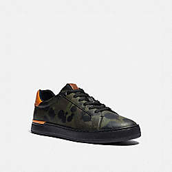 LOWLINE LOW TOP SNEAKER WITH WILD BEAST PRINT - MILITARY WILDBEAST/CLEMENTINE - COACH G5020