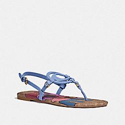 JERI SANDAL WITH LOVE - LIGHT BLUE/TAN - COACH G5099