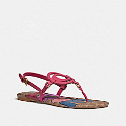 JERI SANDAL WITH LOVE - DARK PINK/TAN - COACH G5099