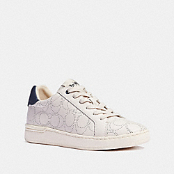 CLIP LOW TOP SNEAKER - CHALK/NAVY - COACH G5393