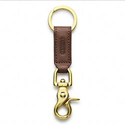COACH TRIGGER SNAP KEY RING - MAHOGANY - IR7212