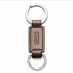 COACH LEATHER VALET KEY RING - MAHOGANY - IR7273