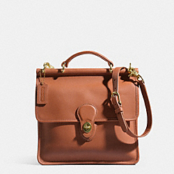 COACH WILLIS BAG IN GLOVETANNED LEATHER - BRITISHTAN - IR9927