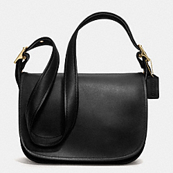 COACH PATRICIAS FLAP BAG IN GLOVETANNED LEATHER - BLACK - IR9951