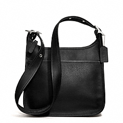 ZIP SHOULDER BAG IN GLOVETANNED LEATHER - ir9966 - SILVER/BLACK