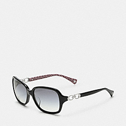 COACH BEATRICE SUNGLASSES - BLACK - L007