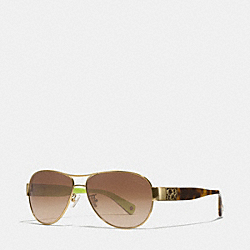 CHARITY SUNGLASSES - GOLD/TORTOISE - COACH L024