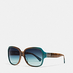 COACH BRIDGET SUNGLASSES - TEAL - L037