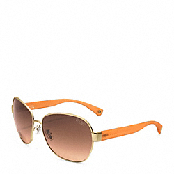 SKYLER SUNGLASSES - GOLD/ORANGE - COACH L047
