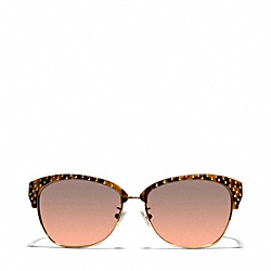 MICHAYLA SUNGLASSES - BROWN OCELOT - COACH L054