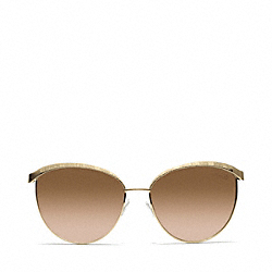 COACH CATRICE SUNGLASSES - GOLD - L057