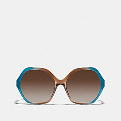 COACH KAIHLA SUNGLASSES - TEAL BROWN - L061