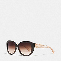LAURIN SUNGLASSES - DARK TORTOISE - COACH L067