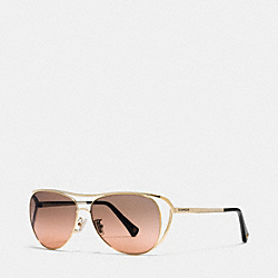 COACH NATALIE SUNGLASSES - GOLD/BLACK - L069