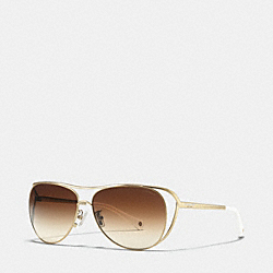 COACH NATALIE SUNGLASSES - GOLD/WHITE - L069