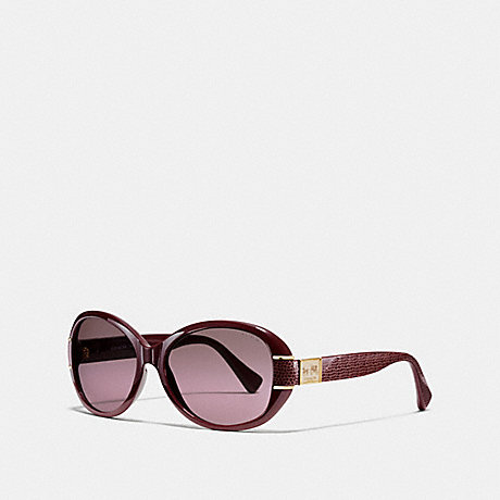 COACH BLAINE HORSE AND CARRIAGE OVAL SUNGLASSES - GARNET - L086