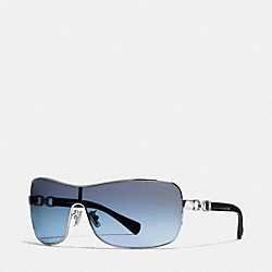 COACH CORT SUNGLASSES - SILVER/BLACK - L093