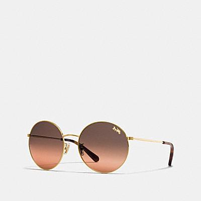 輕薄金屬圓框太陽眼鏡