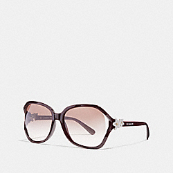 COACH INTEGRATION FLOWER SUNGLASSES - OXBLOOD - L1033