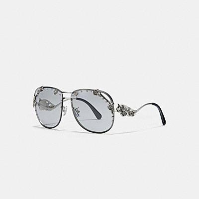 茶香玫瑰飛行員太陽眼鏡