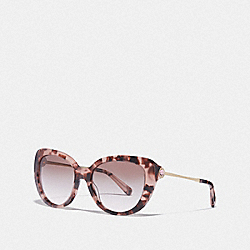 JESSA CAT EYE SUNGLASSES - /PINK TORTIOSE - COACH L1069