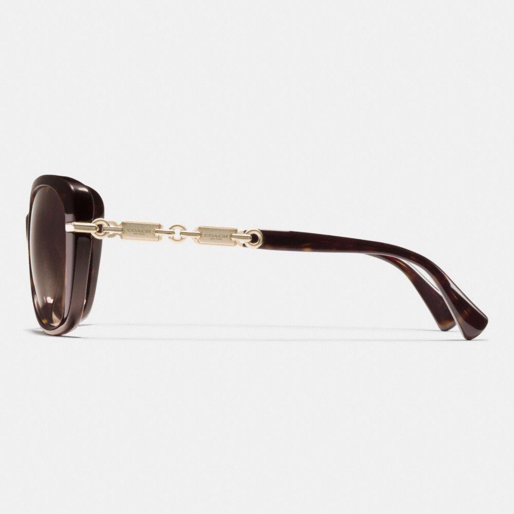 Hangtag Chain Cat-Eye Sunglasses - Alternate View L2